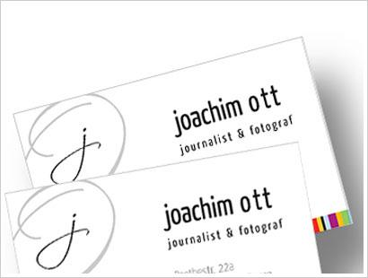 Visitenkarten Joachimott Journal