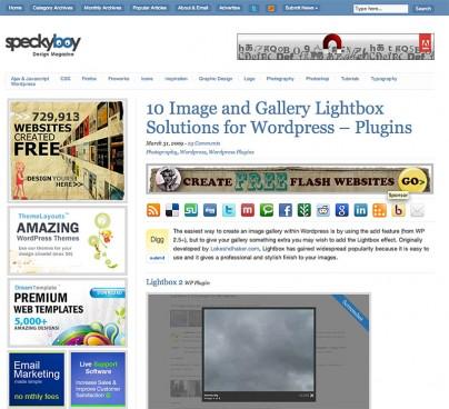 Lightbox-Bilder und Galerien für WordPress
