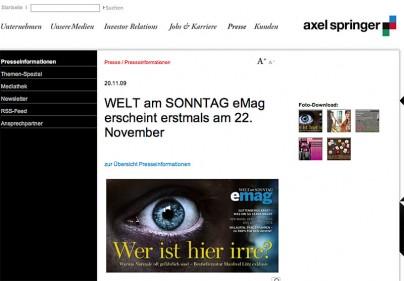 E-Mag der Welt am Sonntag