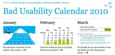 Bad Usability Calendar