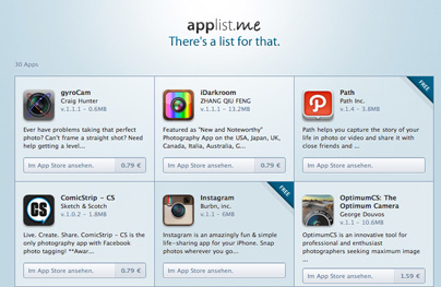 applist-me: Photo-Apps
