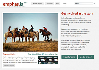 Emphas.is - crowdfund visual journalism