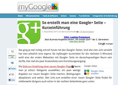 Google+ Seiten