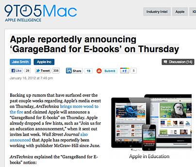 Bringt Apple GarageBand für E-Books?
