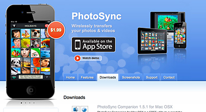 PhotoSync App für iPhone, iPad und Mac