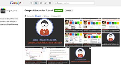 Google+ Privatsphäre Tutorial