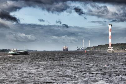 Die Elbe bei Hamburg - Testbild für Snapseed