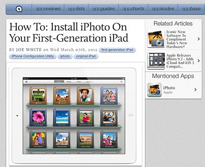 iPhoto auf dem iPad1
