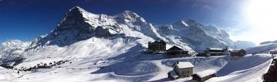 Panorama mit Eiger, Mönch und Jungfrau
