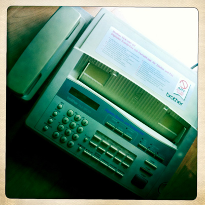 Hat ausgedient: das alte Fax-Kombigerät