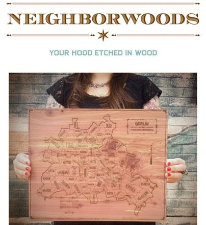 Stadtpläne in Holz