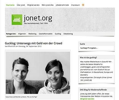 Jonet-Artikel über Crowdfunding-Projekt
