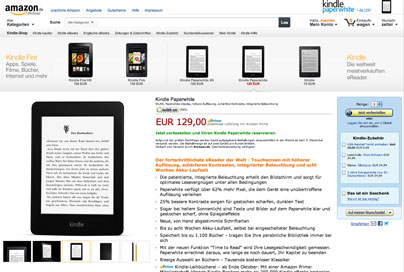 Kindle Paperwhite von Amazon