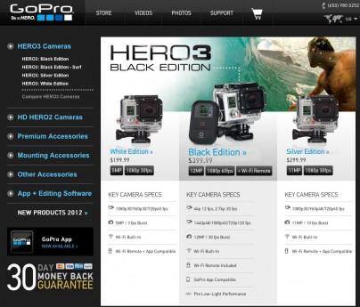 Die neue GoPro Hero 3