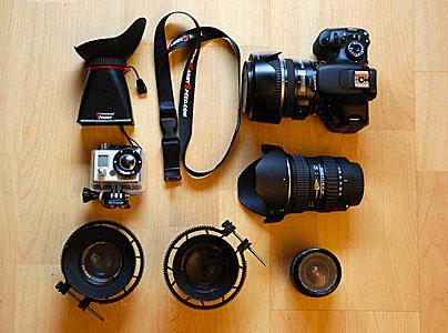 Ausrüstung sammeln und einpacken