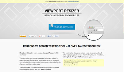 Viewport Resize - die Website