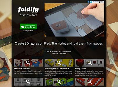 Foldify - iPad-App für Verpackungen