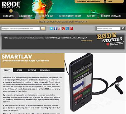 Røde smartLav für Videofilmer