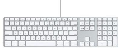 Die kabelgebundene Tastatur für den iMac
