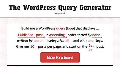Wordpress Query Generator