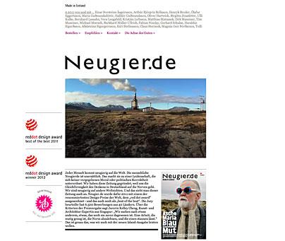 Printprojekt von neugier.de
