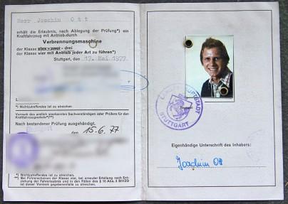 """Der """"alte"""" Führerschein"""