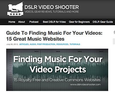 Artikel zu Music Websites
