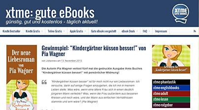 xtme: aktuelle und gut gepflegte eBook-Website