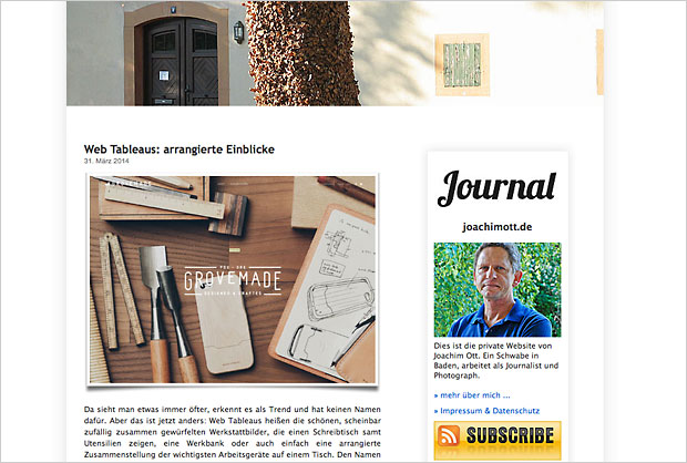 Das alte WordPress-Theme