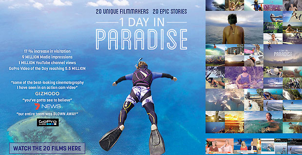 1 Day In Paradise. 20 unique filmakers. 20 epic stories.