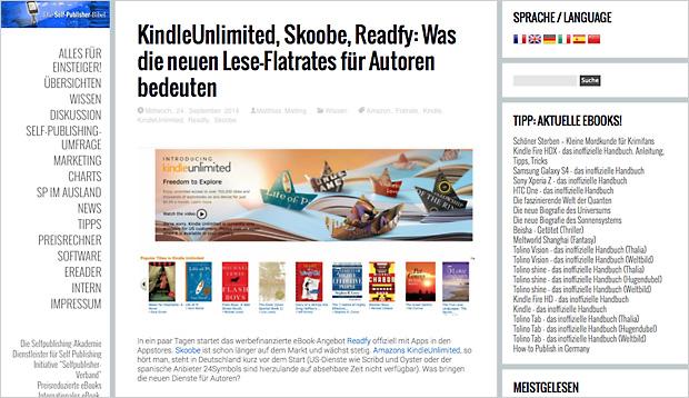 Lese-Flatrates, E-Book-Ausleihe