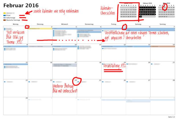 Redaktionskalender und Themenplan