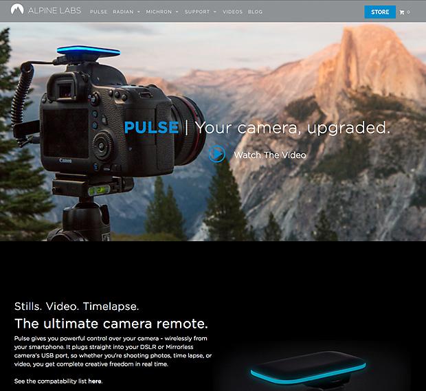 Pulse - kabellose Fernsteuerung für DSLR
