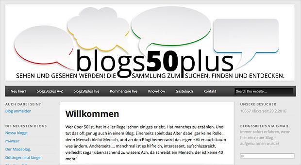 Blogs der Generation 50plus