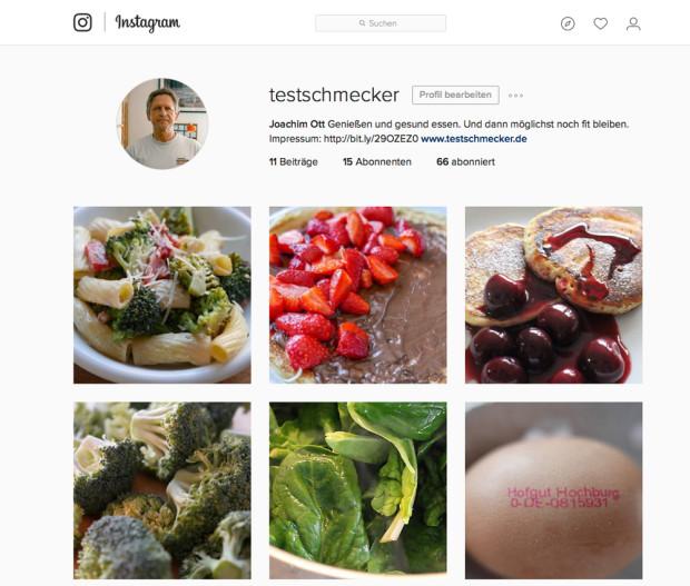Zweiter Instagram Account für testschmecker.de