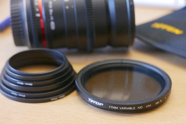 Einen einzelnen ND-Fader sollte man immer nach dem Objektiv mit dem größten Durchmesser kaufen. Step-Filter zur Anpassung sind billiger als weitere ND-Filter.