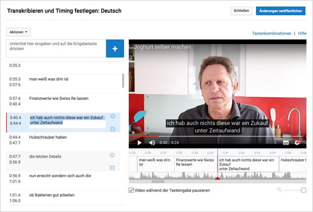 Video-Untertitel bei Youtube, die Captions, sind manchmal der reine Nonsens.