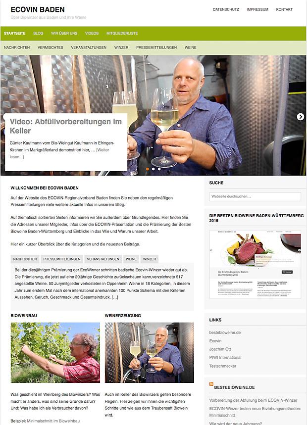 Die neue Website von ECOIN Baden hat einen neuen, schöneren Website-Eingang bekommen.