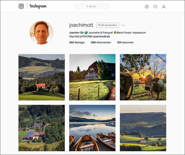Fotos für den Instagram-Account lassen sich am leichtesten vorausplanen, können aber nur übers Smartphone und zum aktuellen Zeitpunkt hochgeladen werden.