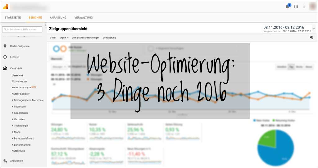 Website-Optimierung: mit drei kleinen Schritten noch 2016 was erreichen