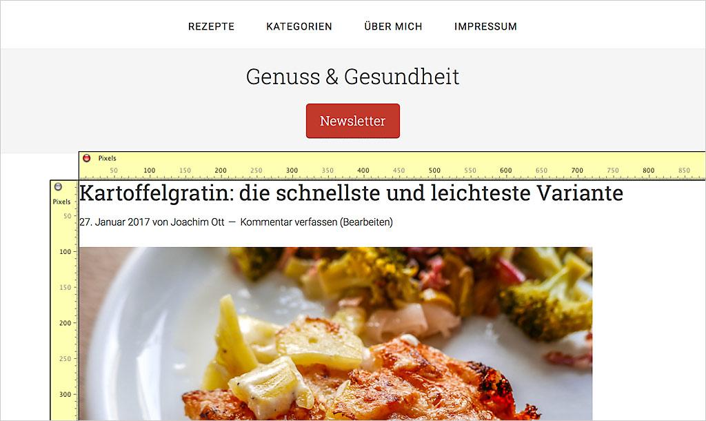 Ein Genesis-Theme: Die größe WordPress Bildgröße bleibt gleich.