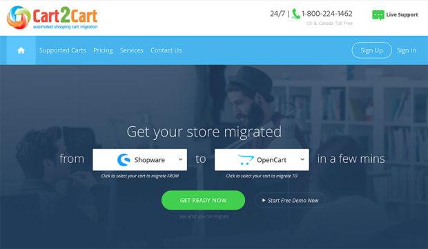 Cart2cart: Schon der Name weist auf einen Helfer für den Shop-Umzug.