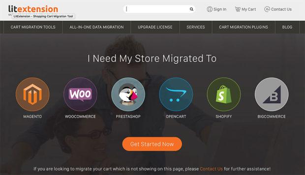 Litextension bietet ebenfalls Unterstützung bei einem Wechsel der Shop-Software an.