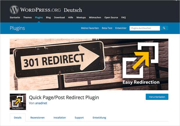 Für den 301-Redirect gibt es verschiedene Plugins. Ich habe eines gesucht, das deutsch spricht und einfach zu bedienen ist.