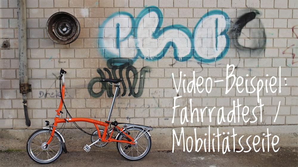 Video-Beispiel: Fahrradtest für gruener-fahren.de
