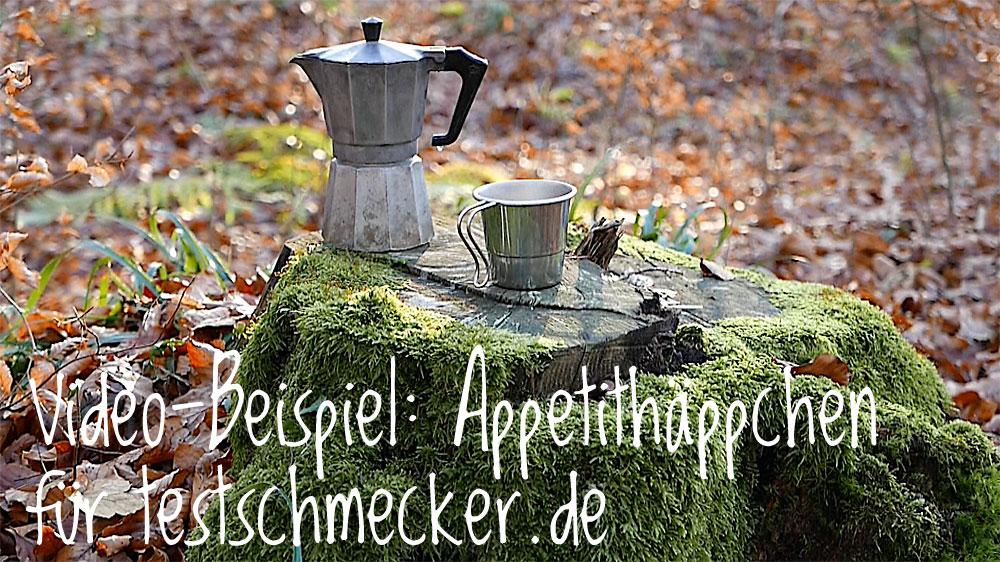 Video-Beispiel: Appetithappen für Facebook-Seite von testschmecker.de