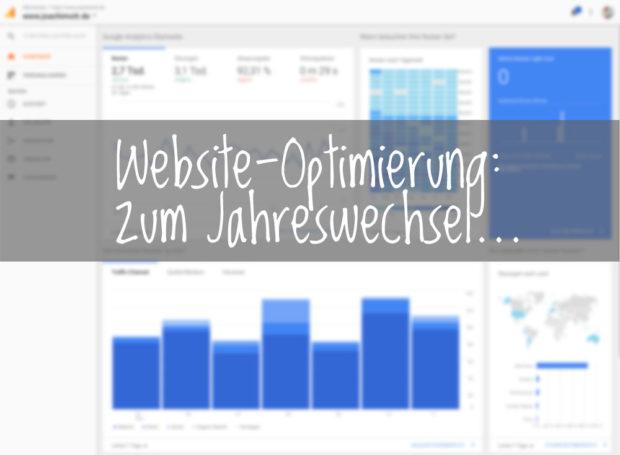 website-Optimierung: Das kann man zum Jahreswechsel in Angriff nehmen und auch gleich umsetzen