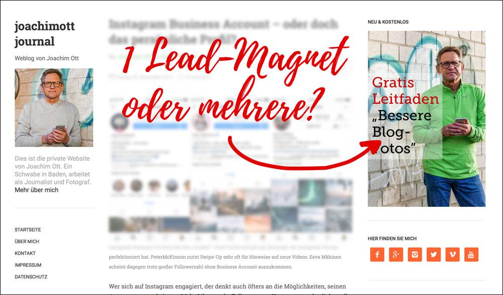 Lead-Magneten für den Newsletter