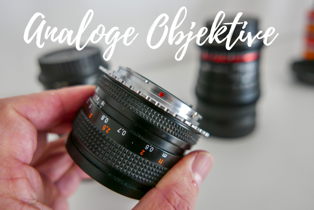 Analoge Objektive funktionieren an modernen Kameras mit einem preiswerten Adapter.