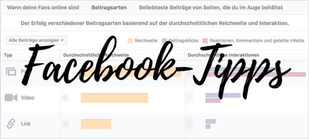 Facebook-Tipps: ein Blick in die Statistik hilft manchmal. Aber ich finde, man soll's nicht übertreiben...